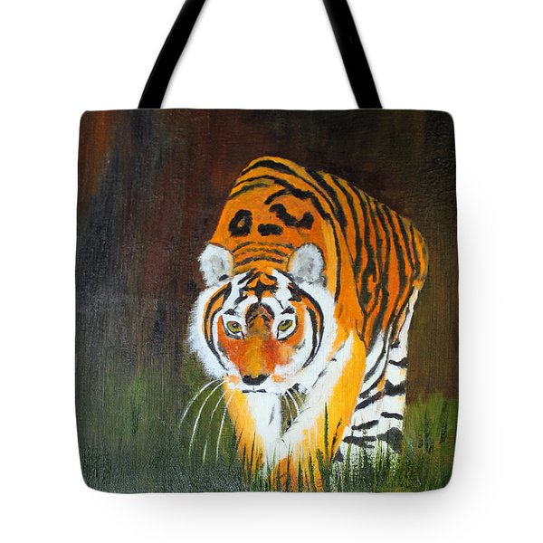 Prowling Tiger Tote Bag by Jack G  Brauer