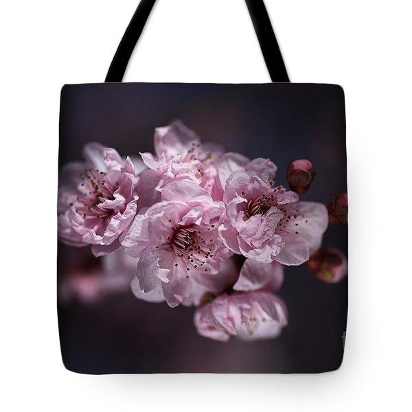 Prunus A Pink Spring Tote Bag by Joy Watson