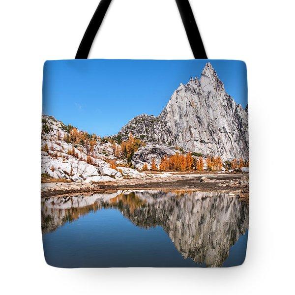 Prusik Peak Reflected In Gnome Tarn Tote Bag