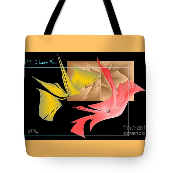 Tote Bag featuring the photograph P.s. I Love You by Leo Symon
