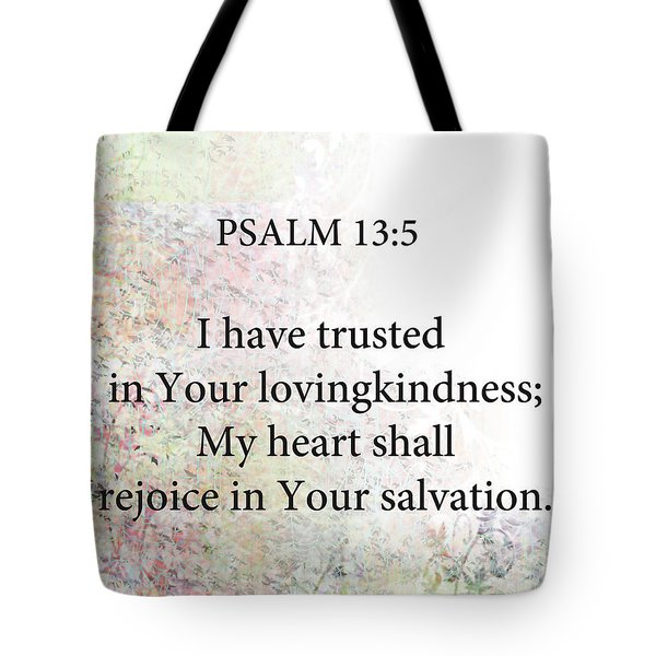 Tote Bag featuring the digital art Psalm 13 5 by Trilby Cole