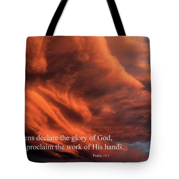 Psalm 19-1 Tote Bag