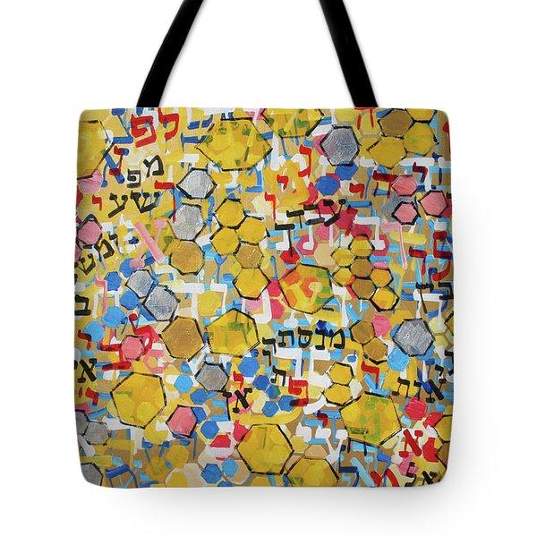Psalm 19 Honeycomb 201756 Tote Bag by Alyse Radenovic
