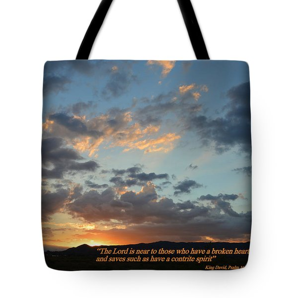 Tote Bag featuring the photograph Psalm 34 Eighteen by Glenn McCarthy