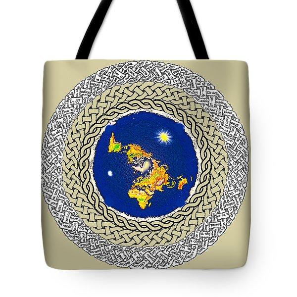 Psalm 37 Flat Earth Tote Bag