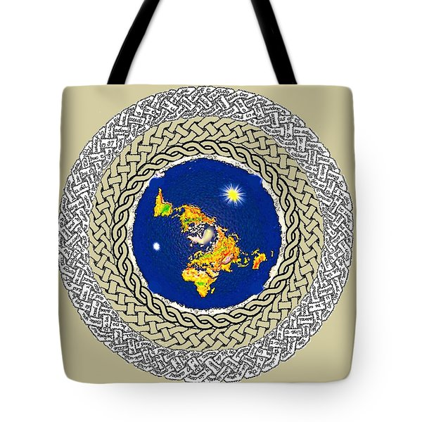 Psalm 37 Flat Earth Tote Bag