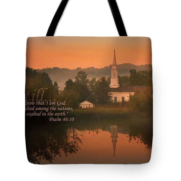 Psalm 46.10 Tote Bag