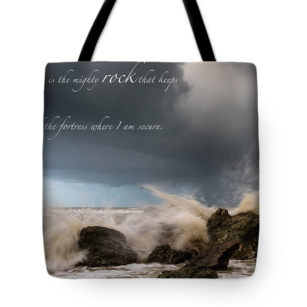 Psalm 62 2 Tote Bag