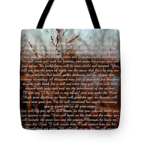 Psalm 91 Tote Bag