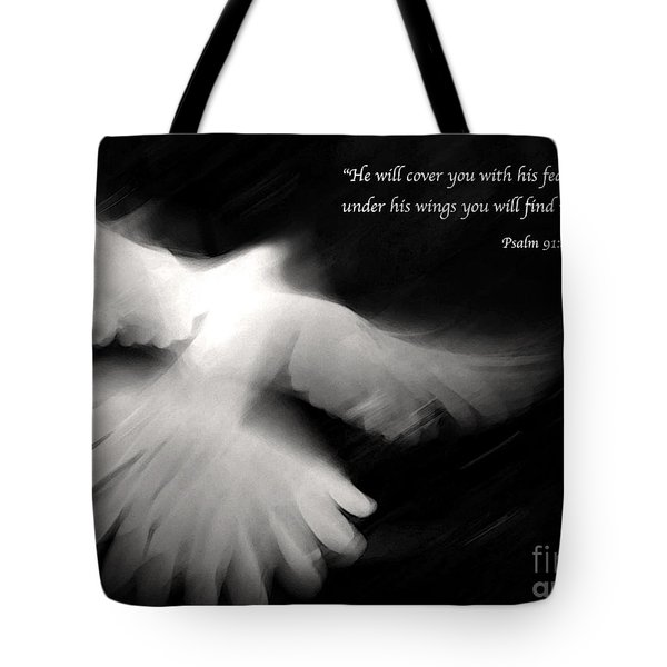 Psalm 91 Tote Bag by Glennis Siverson