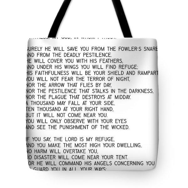 Psalm 91 #minimalism Tote Bag