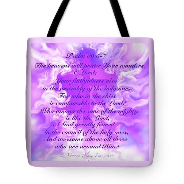 Psalm Eighty Nine Selected Verses Tote Bag