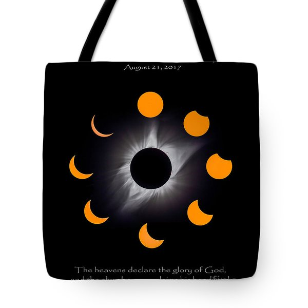 Psalm Nineteen Solar Eclipse Tote Bag