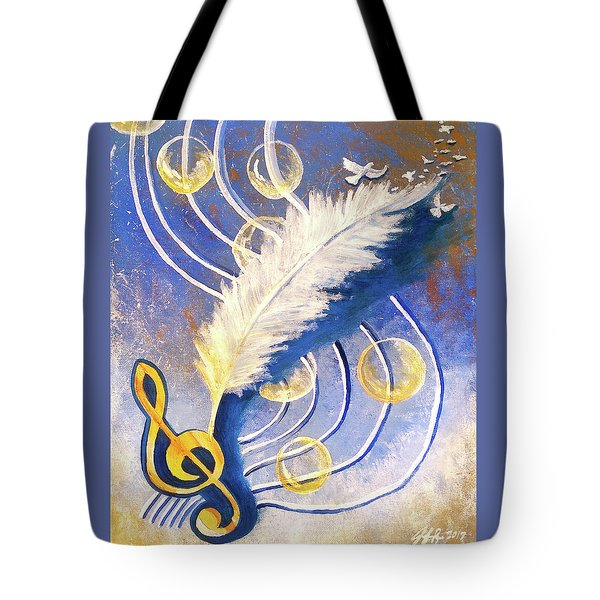 Tote Bag featuring the painting Psalmist by Jennifer Page