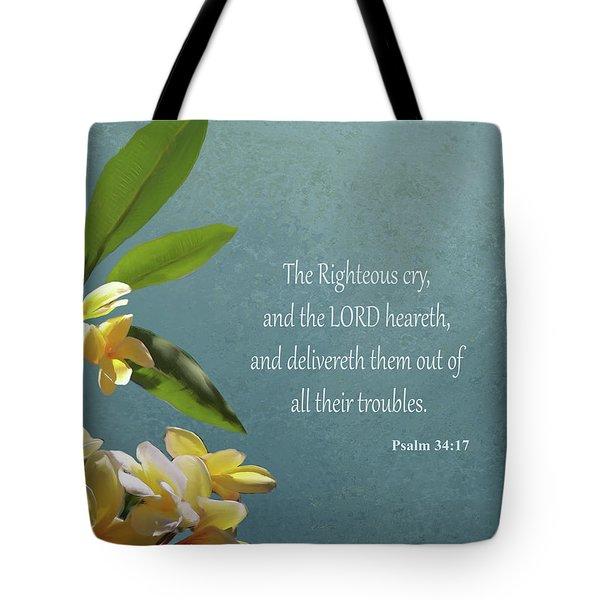 Psalms 01 Tote Bag