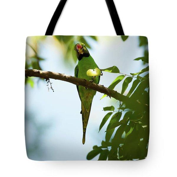 Psittacula Krameri Tote Bag by Venura Herath
