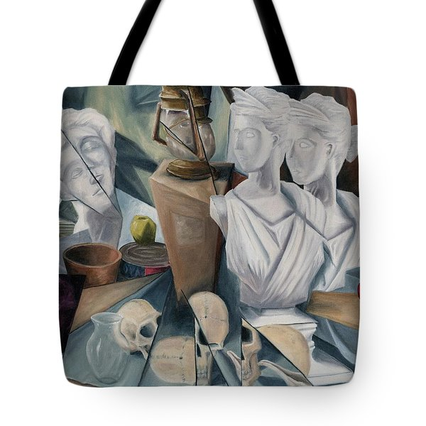 Tote Bag featuring the painting Psyche by Break The Silhouette