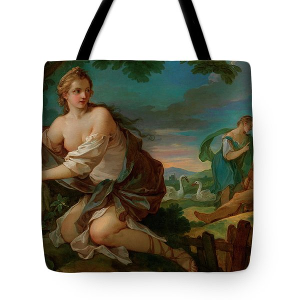 Psyche Gathering The Fleece Of The Rams Of The Sun Tote Bag