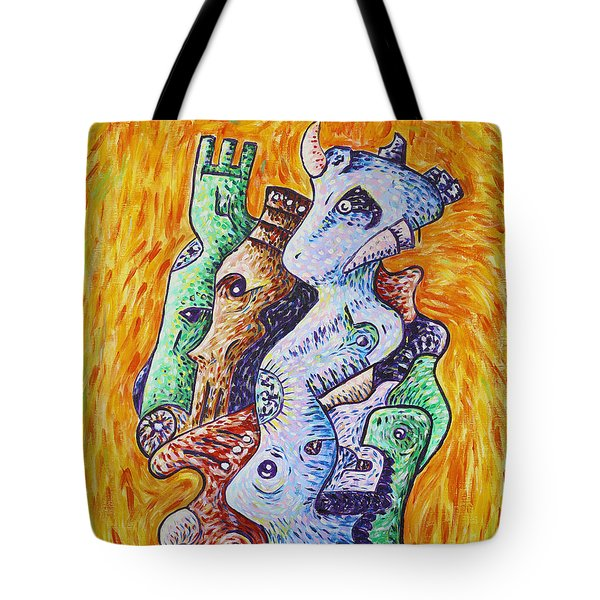 Psychedelic Animals Tote Bag