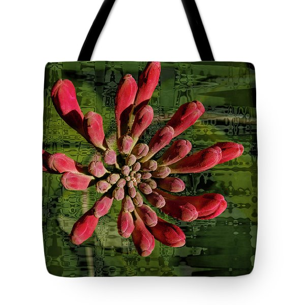 Tote Bag featuring the photograph Psychedelic Bud by Jean Noren
