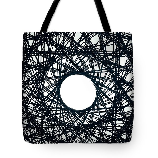 Psychedelic Concentric Circle Tote Bag