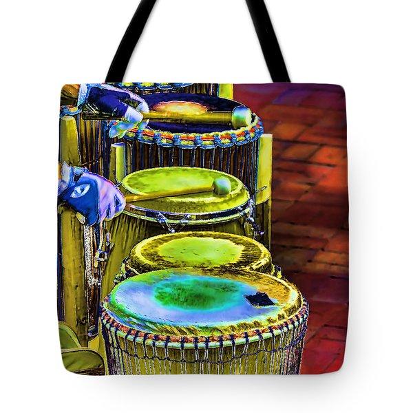 Psychedelic Drums Tote Bag
