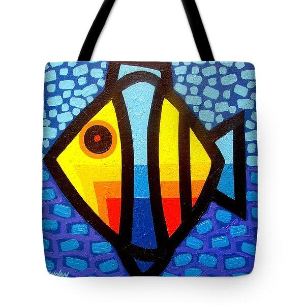 Psychedelic Fish Tote Bag by John  Nolan