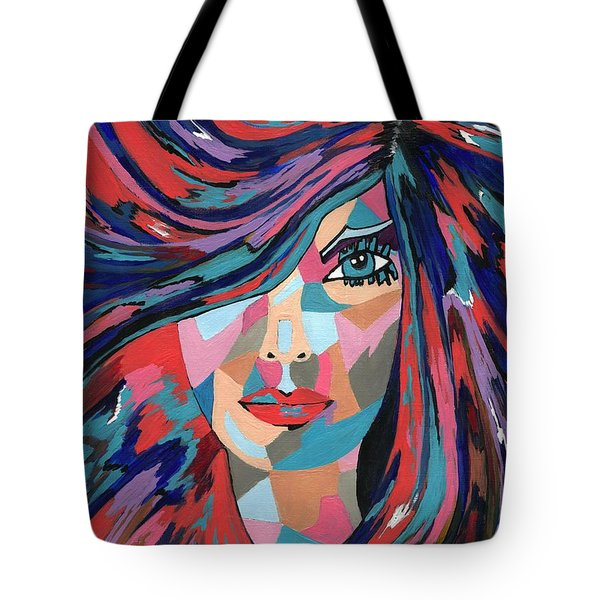 Psychedelic Jane Tote Bag by Kathleen Sartoris