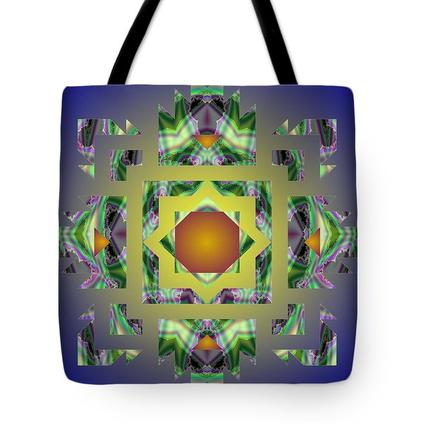 Psychedelic Mandala 002 A Tote Bag by Larry Capra