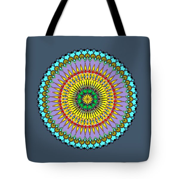 Psychedelic Mandala 005 A Tote Bag by Larry Capra
