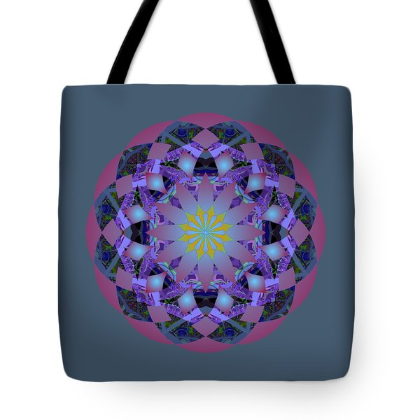 Psychedelic Mandala 006 A Tote Bag by Larry Capra
