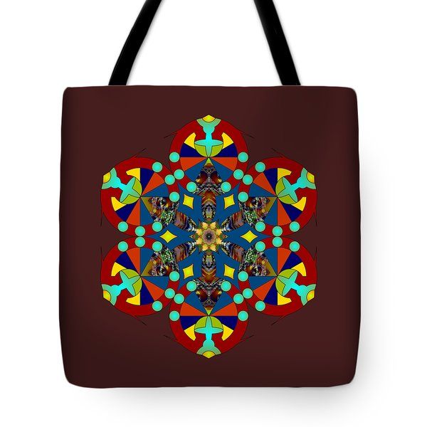 Psychedelic Mandala 007 A Tote Bag by Larry Capra