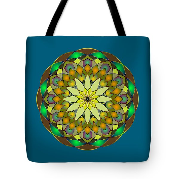 Psychedelic Mandala 008 A Tote Bag by Larry Capra