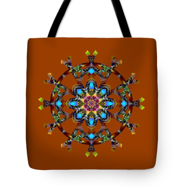 Psychedelic Mandala 010 A Tote Bag by Larry Capra