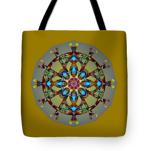 Psychedelic Mandala 010 B Tote Bag by Larry Capra