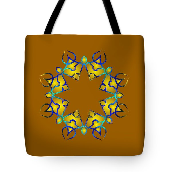 Psychedelic Mandala 011 A Tote Bag by Larry Capra