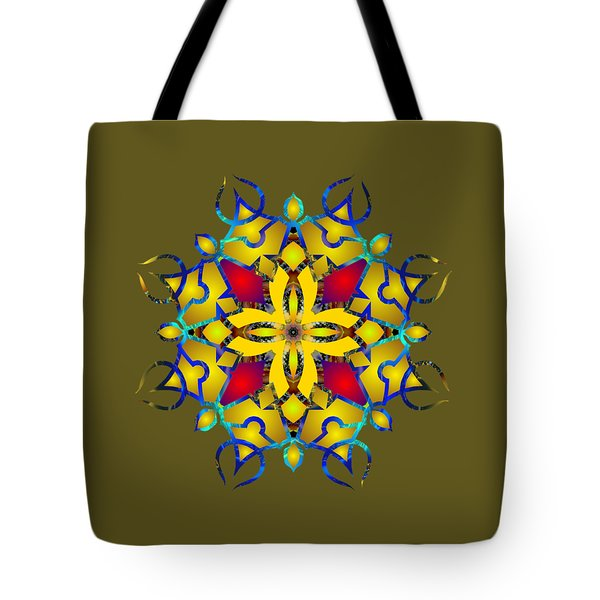Psychedelic Mandala 011 B Tote Bag by Larry Capra