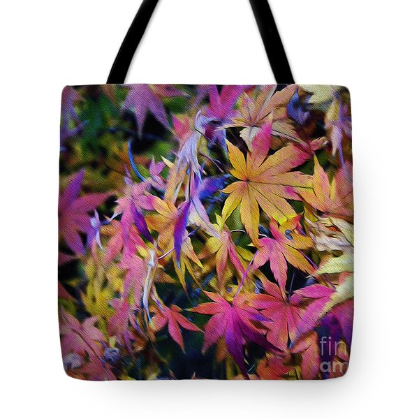Psychedelic Maple Tote Bag by Kaye Menner