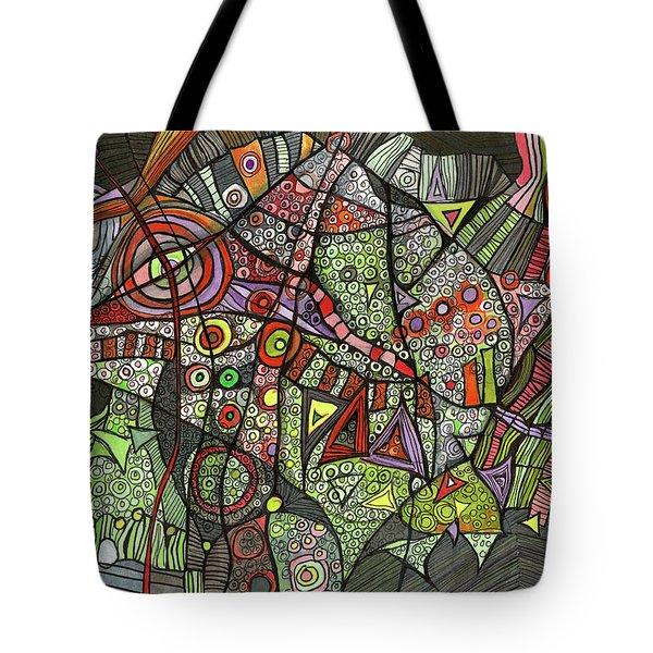 Psychedelic Sea Creature Tote Bag