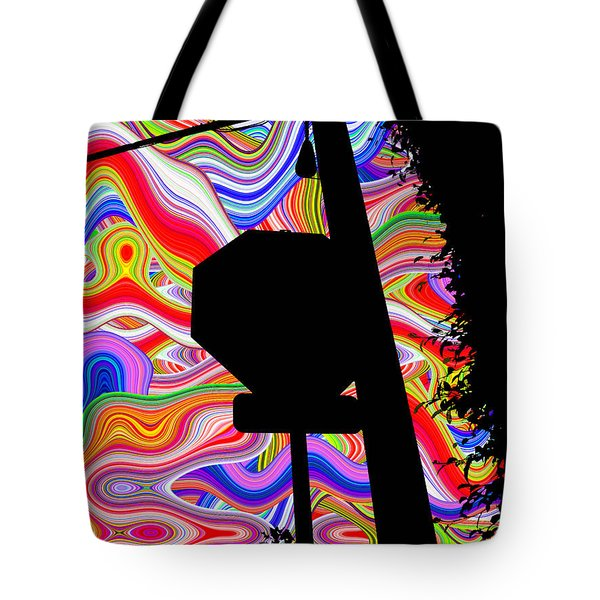 Psychedelic Sky Tote Bag by Phill Petrovic
