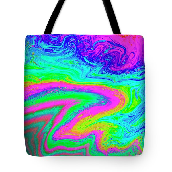 Tote Bag featuring the photograph Psychedelic Swirl by Jean Noren