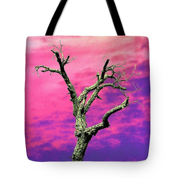 Psychedelic Tree Tote Bag