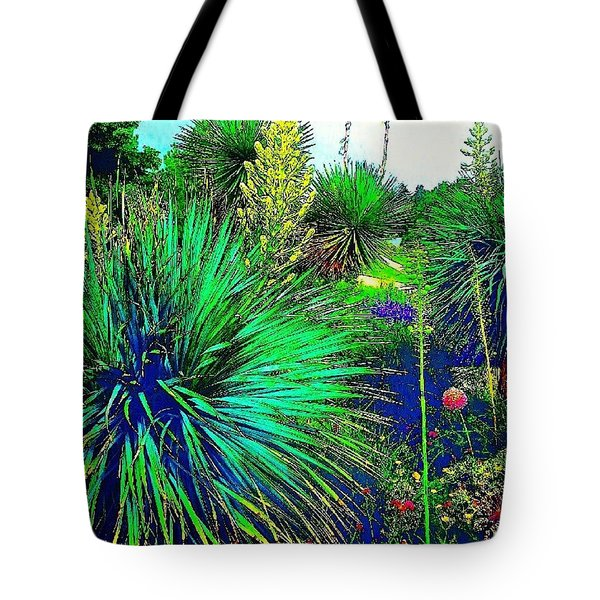 Psychedelic Yuccas. #plant #yucca Tote Bag