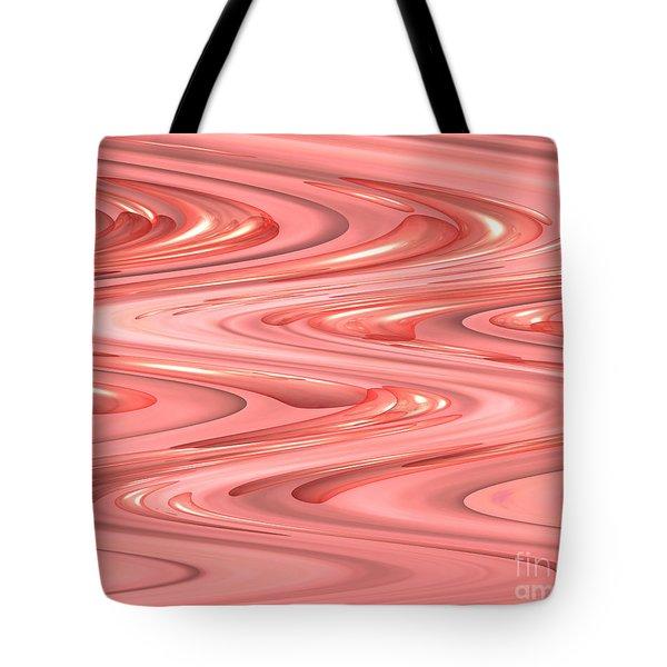 Psychedelic Zigzag Tote Bag