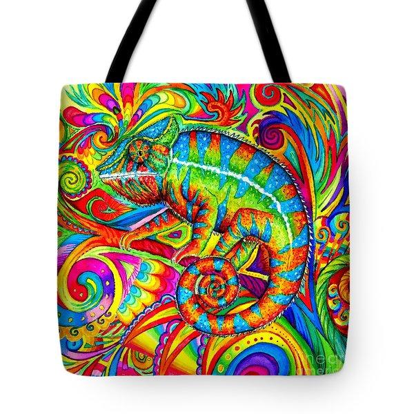 Psychedelizard Tote Bag