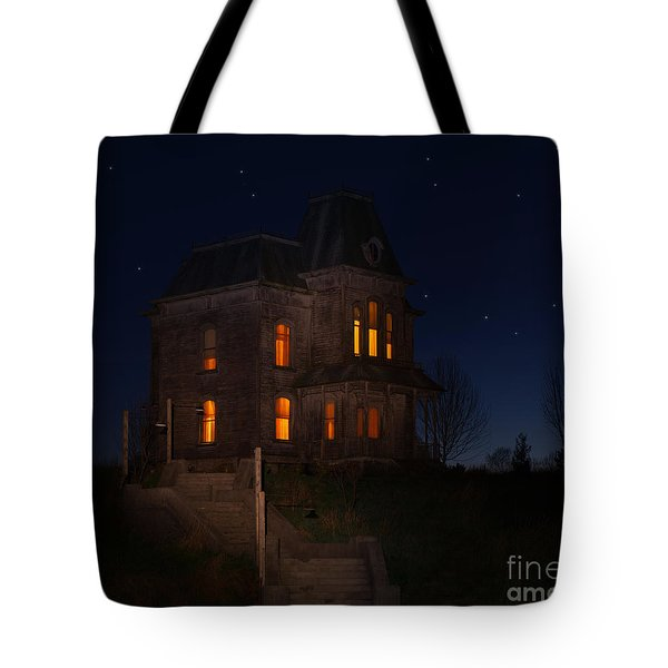 Psycho House-bates Motel Tote Bag by Jim  Hatch
