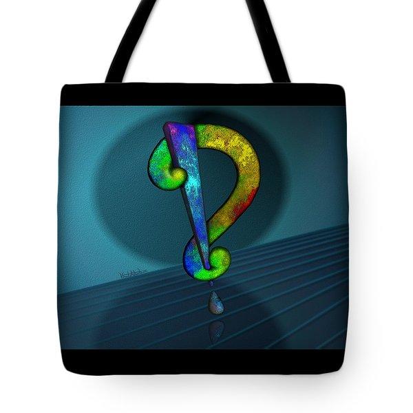 Psychedelic Interrobang Tote Bag