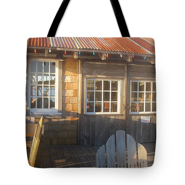 Tote Bag featuring the photograph Pt. Reyes Boathouse by Dianne Levy
