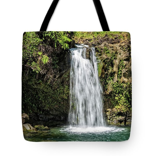 Tote Bag featuring the photograph Pua'a Ka'a Falls by Jim Thompson