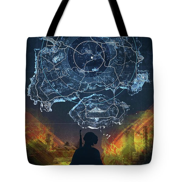 Tote Bag featuring the digital art Pubg Battlegrounds by IamLoudness Studio